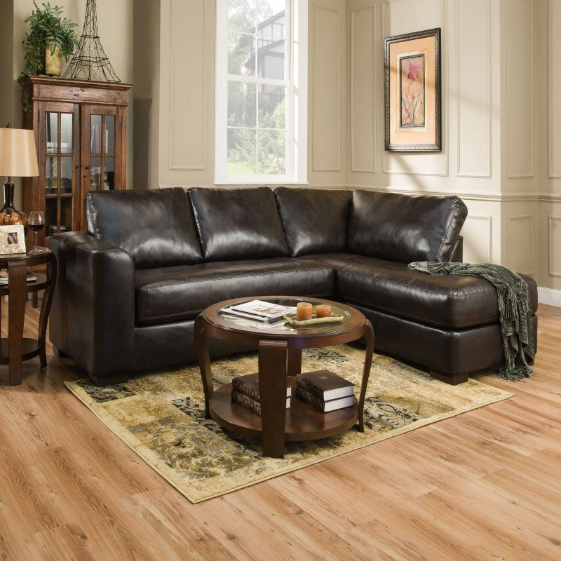 Simmons Lucky Espresso Sectional With Chaise Udf378 Durable