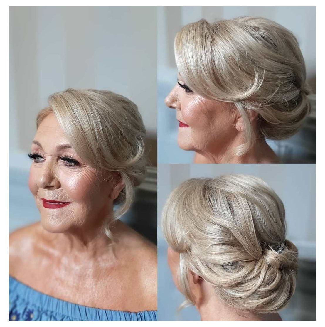 30 Gorgeous Mother Of The Bride Hairstyles For 2020 Short Hair Updo For Wedding Mother Mother Of The Groom Hairstyles Short Wedding Hair Short Hair Updo