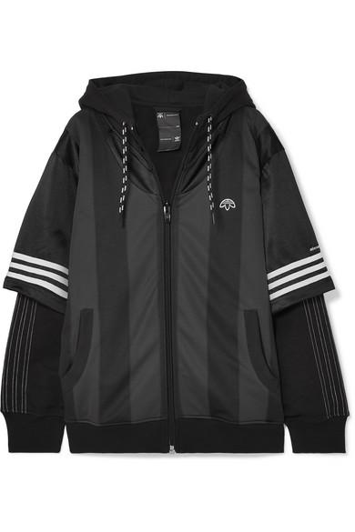 lago Viaje Estallar  adidas Originals By Alexander Wang - Hooded Layered Fleece, Mesh And  Tech-jersey Jacket - Black   Jersey jacket, Jackets, Alexander wang