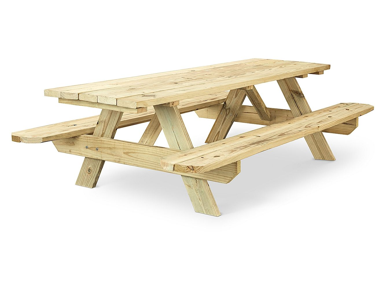 Economy A Frame Wooden Picnic Table 8 H 5163 Uline Bank