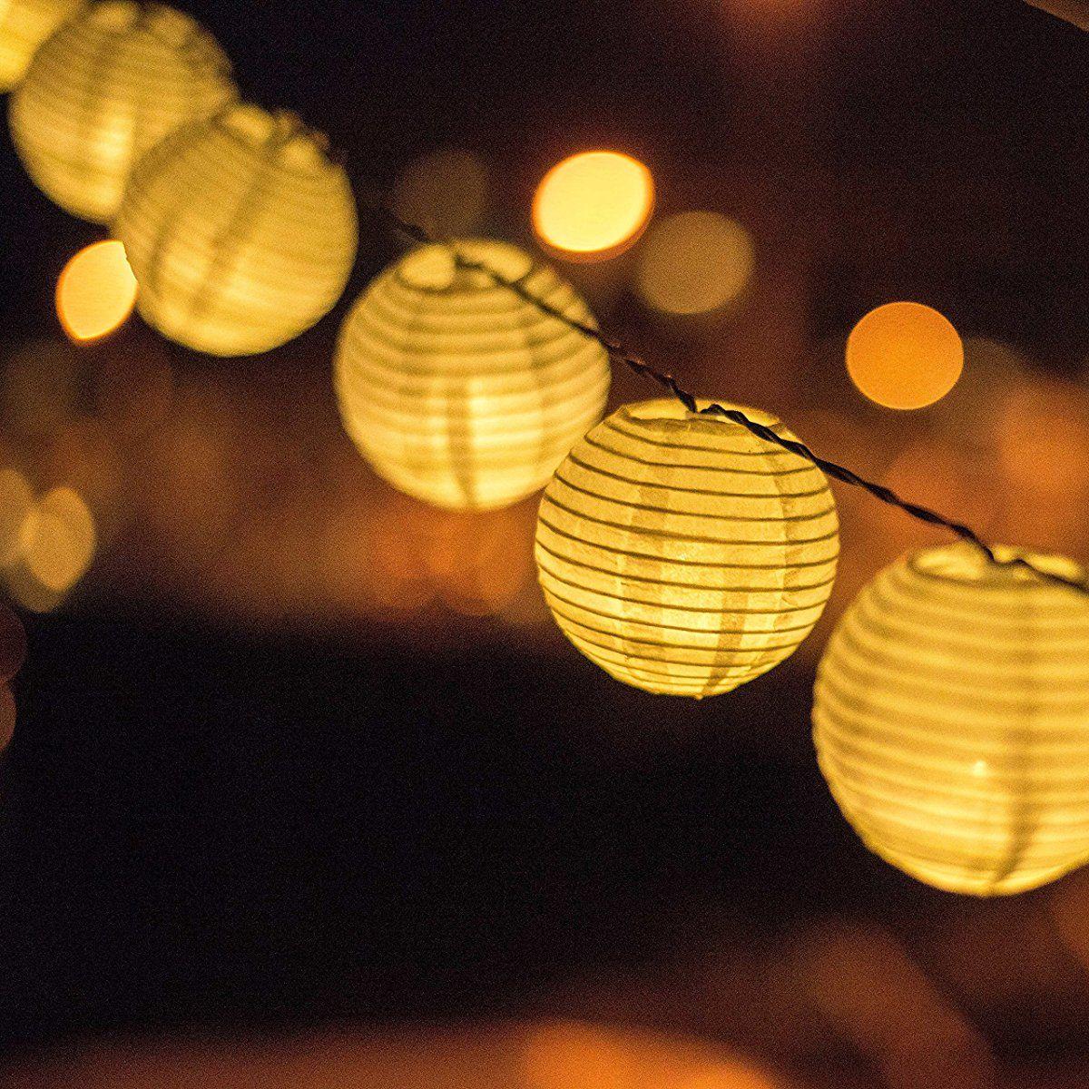 Solar powered lanterns string lights outdoor lighting 25 led solar powered lanterns string lights outdoor lighting 25 led globe lights per string aloadofball Choice Image