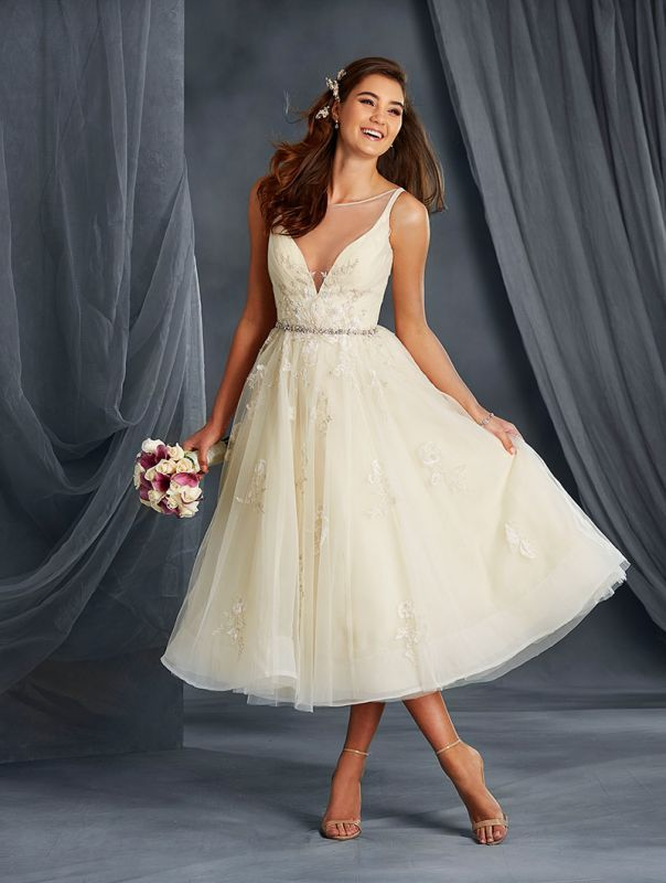 21 Best Tea Length Wedding Dresses | Tea length wedding dress, Tea ...