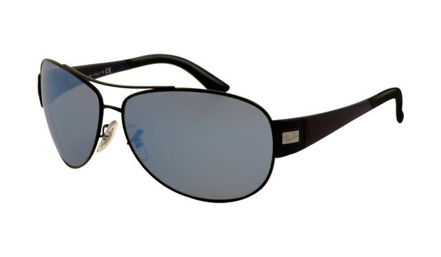 Shiny Black Lens Rb3467 Frame Ray Ban Sunglasses Polarized Blue qSMVzUpG
