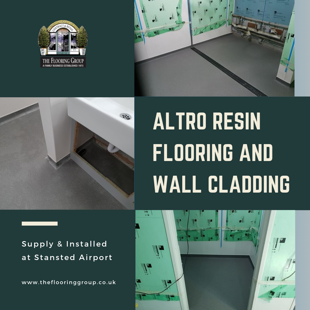 Altro Flooring Installed At Stansted Airport Cladding