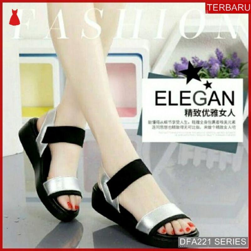 Dfa221y35 Ym08 Sandal Wedges Bassam Wanita 5269 Dewasa Bmgshop