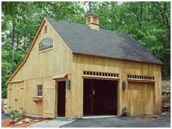 Post & Beam Garage and Barn Building Kits by