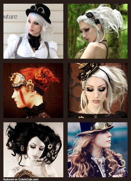 Steampunk Bride Hairstyle I Loove The Bottom Left XD