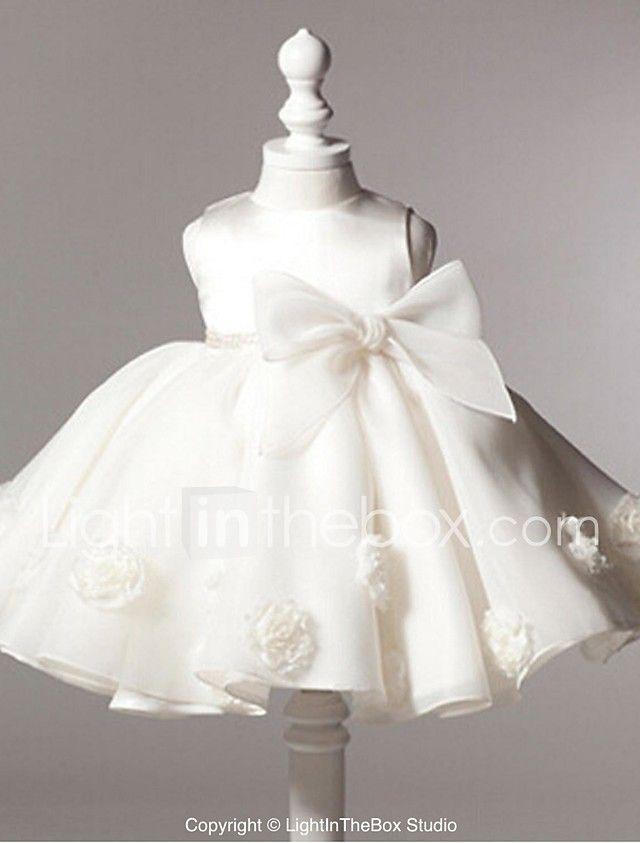 fd0a0e61c Ball Gown Knee Length Flower Girl Dress - Organza Sleeveless Jewel ...