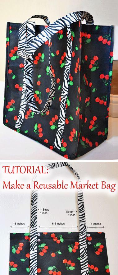 Tutorial: Make a reusable market bag