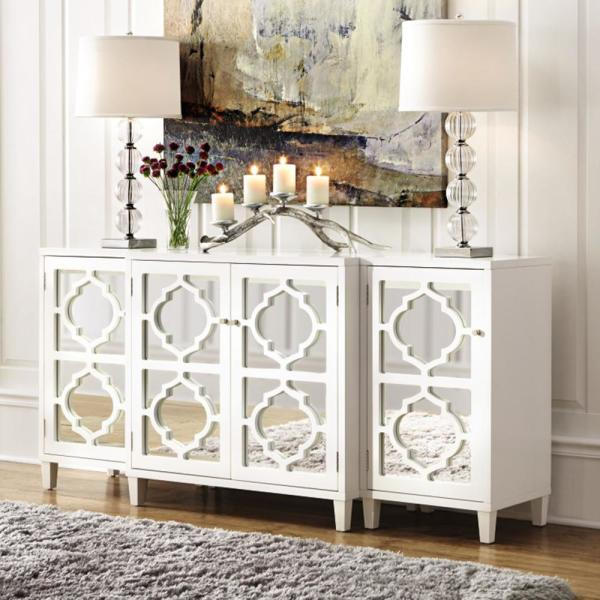 Home Decorators Collection Reflections White Mirrored Console Table Set M61260h11 W The Home Depot In 2020 Mirrored Console Table Console Table Living Room Dining Room Console Table