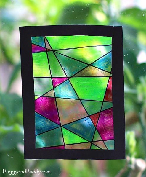 Stained Glass Suncatcher Craft