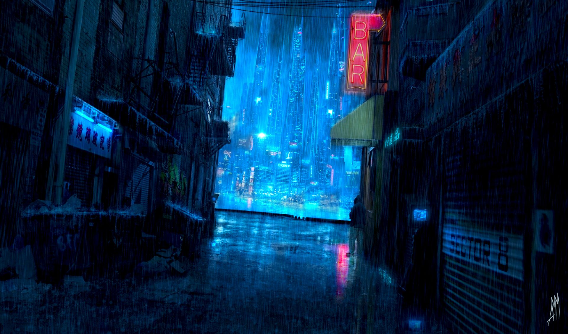 Dark Anime Scenery Wallpapers High Definition For Free Wallpaper Anime Scenery Wallpaper Anime Scenery Cyberpunk City