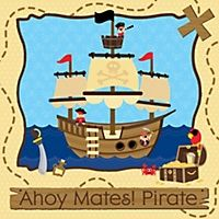 Ahoy Mates! Pirate - Personalized Birthday Party Cake Toppers   BigDotOfHappiness.com