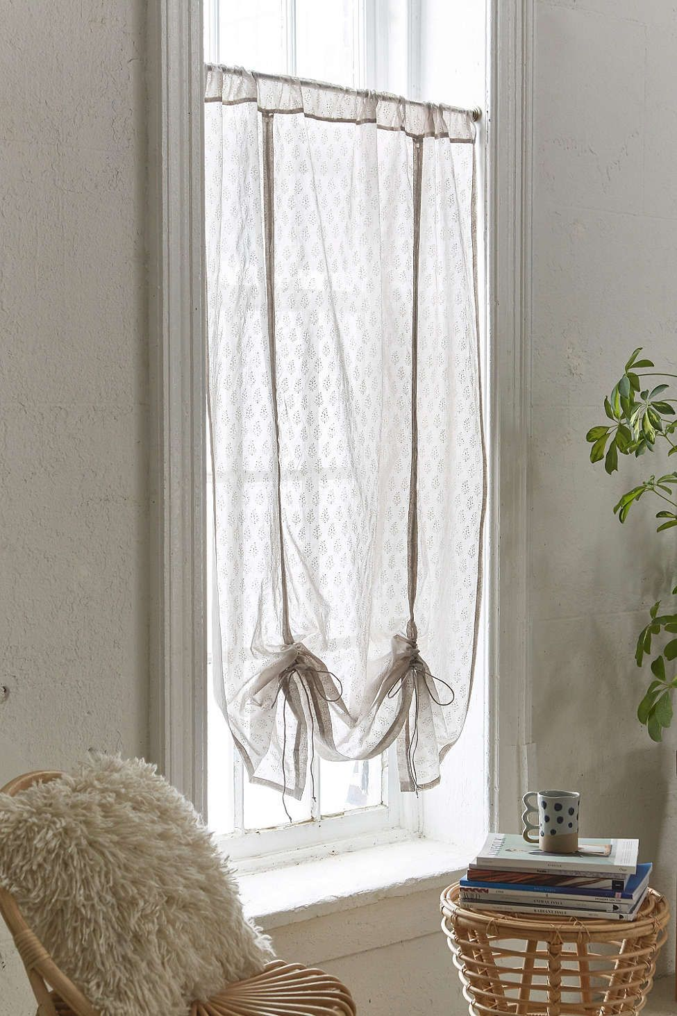 Window decor for bedroom  plum u bow carlie bhuti drape shade  urban outfitters  bedroom
