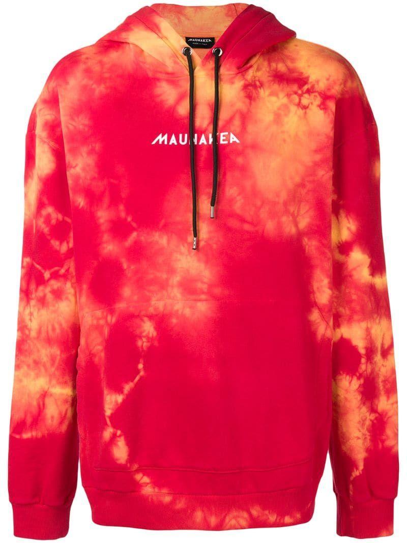 Mauna Kea Tie Dye Printed Hoodie Farfetch Hoodie Print Tie Dye Clothing Design Details [ 1067 x 800 Pixel ]