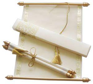 Orientalische Schriftrolle Als Hochzeitseinladung Von RoyalDay
