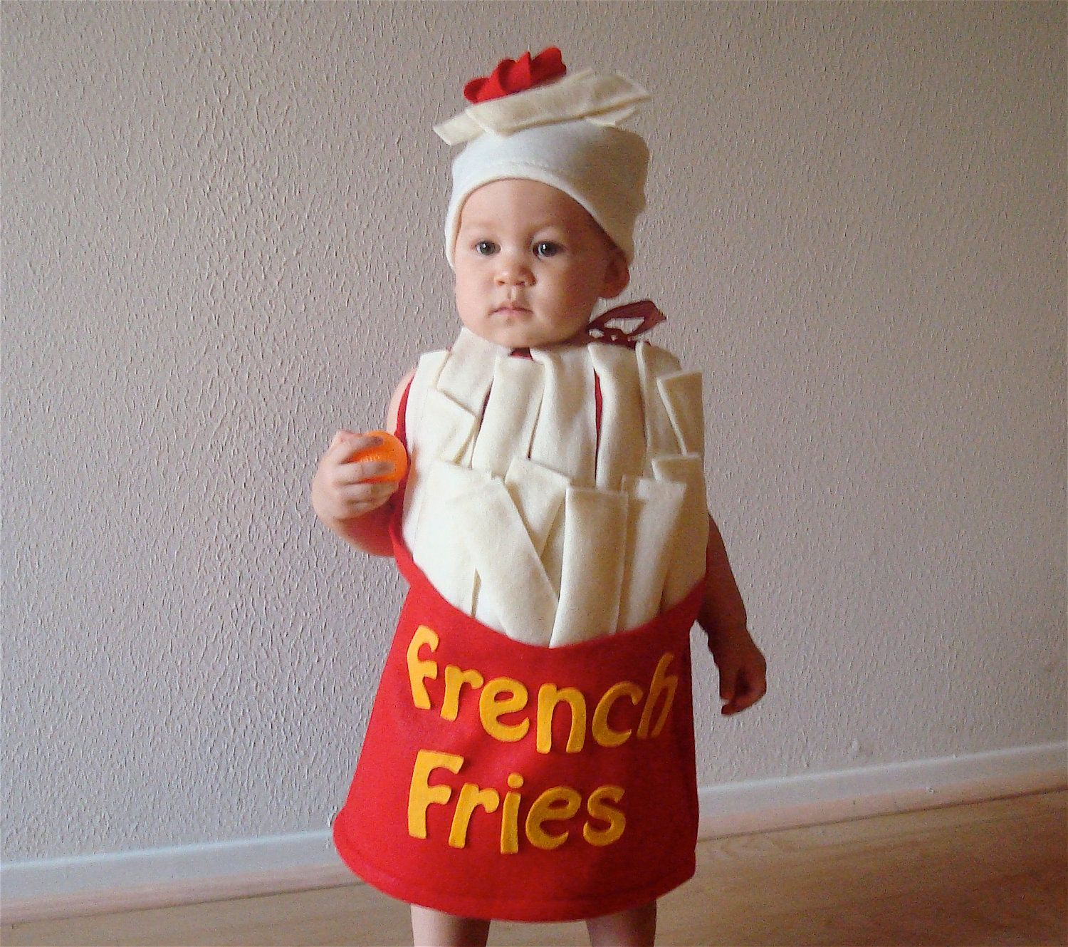 French Fry Costume Baby Costume Toddler Costume Halloween Costume French  Fries with a Dollop of Ketchup.  60 0ca90611b579