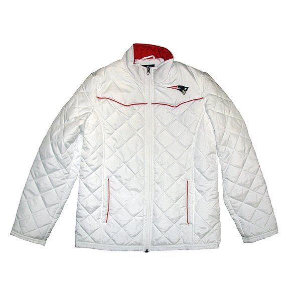 Looks Even Cozier Ladies Spectator Quilt Jacket White Pats Nation