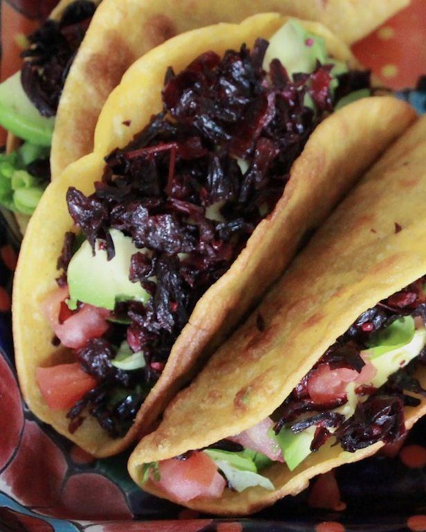 Tres Del Mes 3 Savory Dishes With Flor De Jamaica Food Vegan Mexican Recipes Hibiscus Recipe