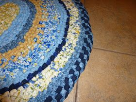 Many moons ago I did a post tutorial on how to make rag rugs without any sewing. In fact I did two posts. You can see them here  and here ....