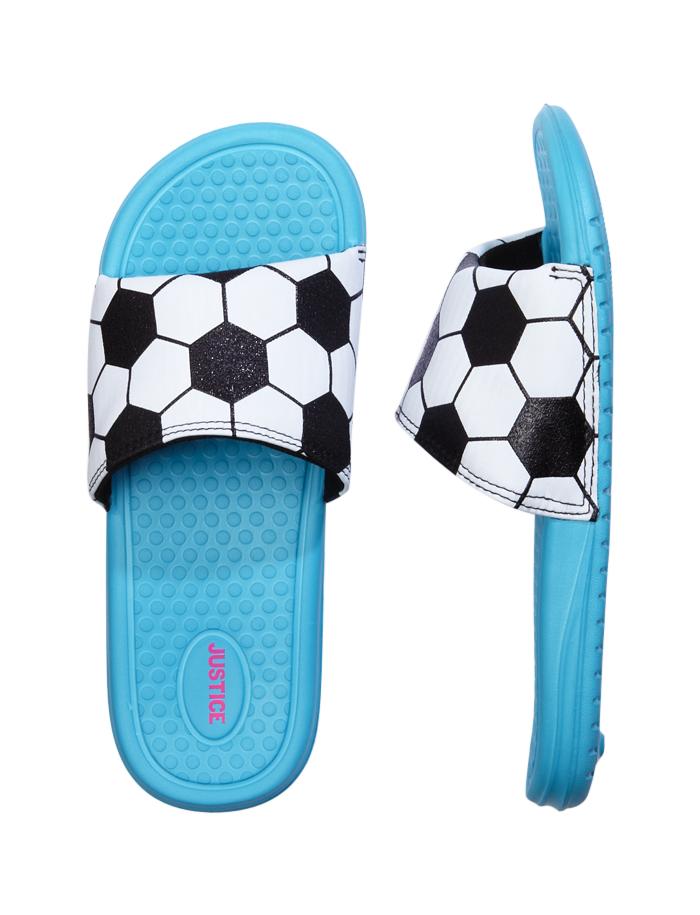 66e10a60a47411 Soccer theme slide sandals