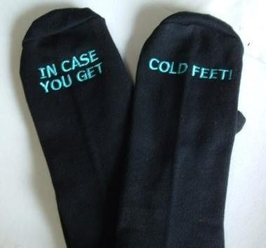 Socks-Give these to him the morning of.