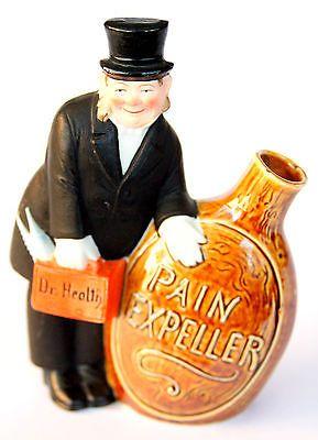 Antique-Schafer-Vater-German-Figural-Flask-Nipper-Dr-Healthy-Pain-Expeller