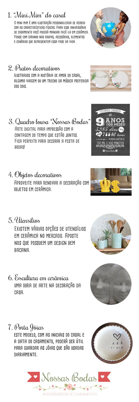 7 Dicas De Presentes Com Imagens Bodas De Ceramica Bodas