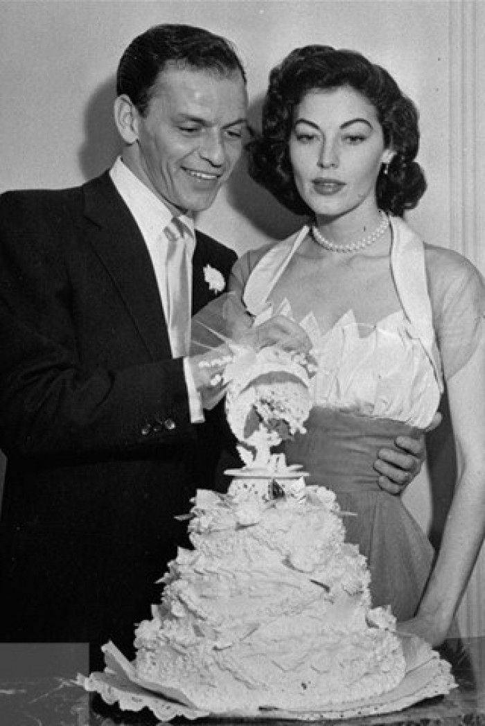 Ava Gardner married Frank Sinatra in November 1961, and wore a ...