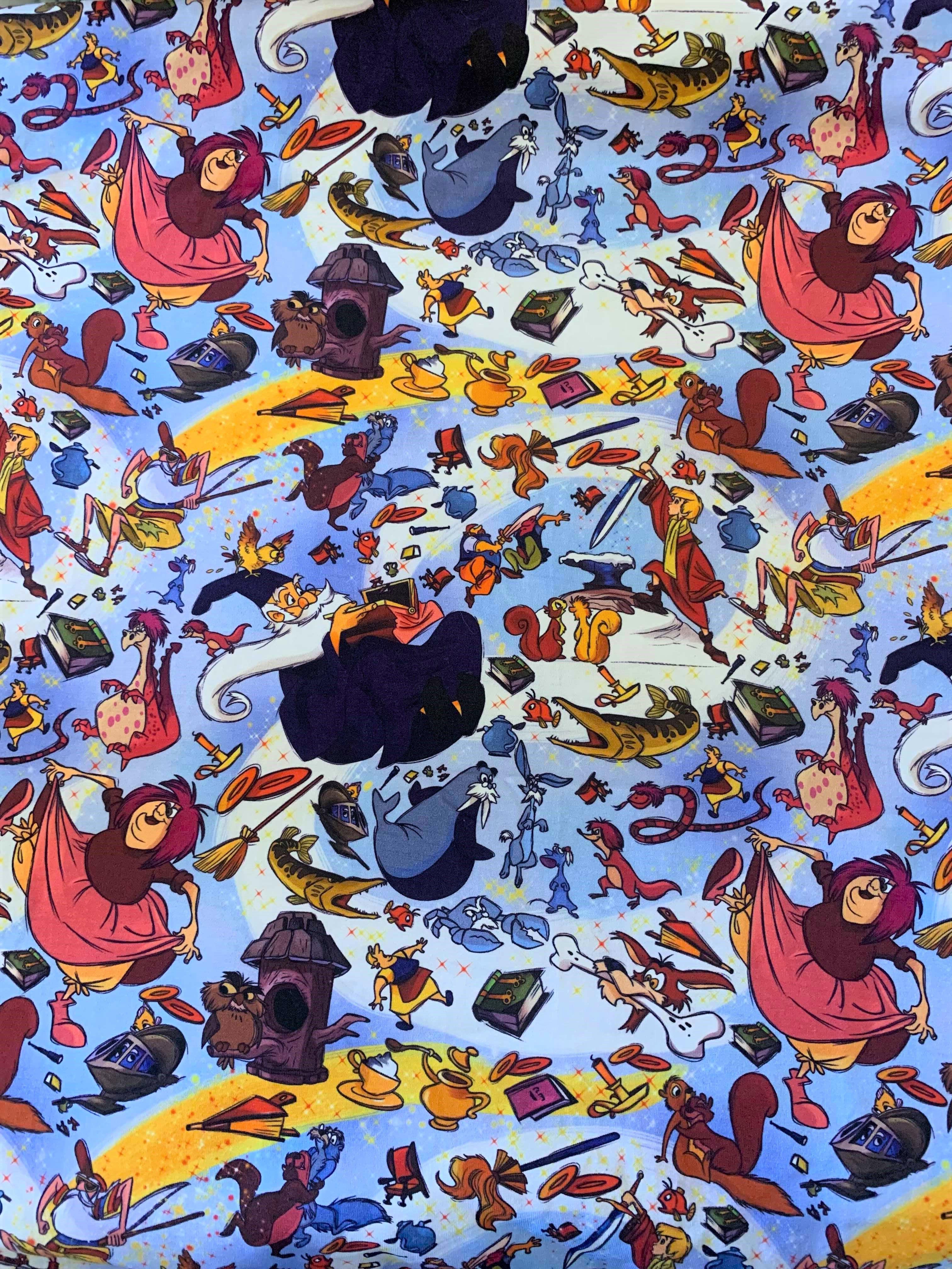 Sword In The Stone Disney Wallpaper Disney Fabric Disney Graphic