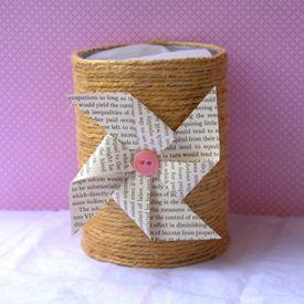 DIY Twine Wrapped Tin Can