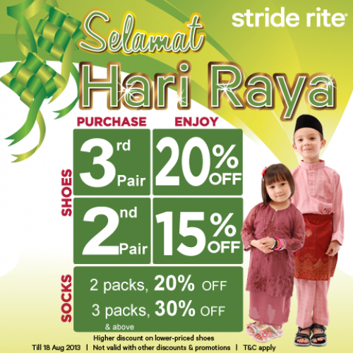 Stride Rite Hari Raya Promotion Mom kid, Stride rite