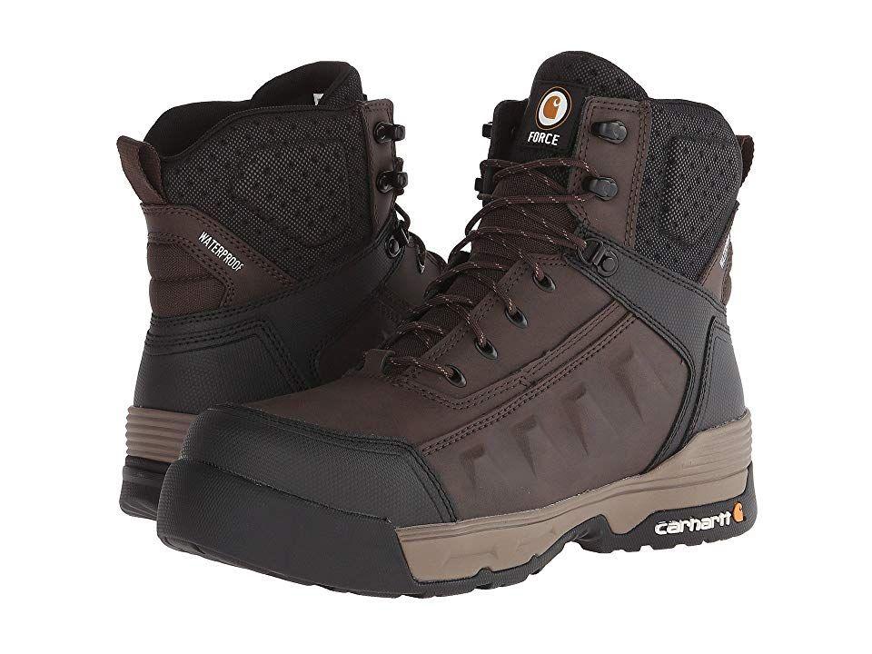 45c5c430794 Carhartt 6 Composite Toe Waterproof Work Boot (Dark Brown) Men's ...