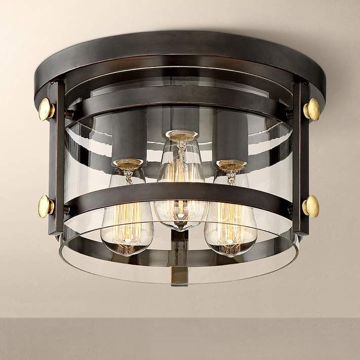Eagleton 13 1 X2f 2 Wide Oil Rubbed Bronze Ceiling Light 1g439 Lamps Plus Bronze Ceiling Lights Ceiling Lights Oil Rubbed Bronze Light Fixtures