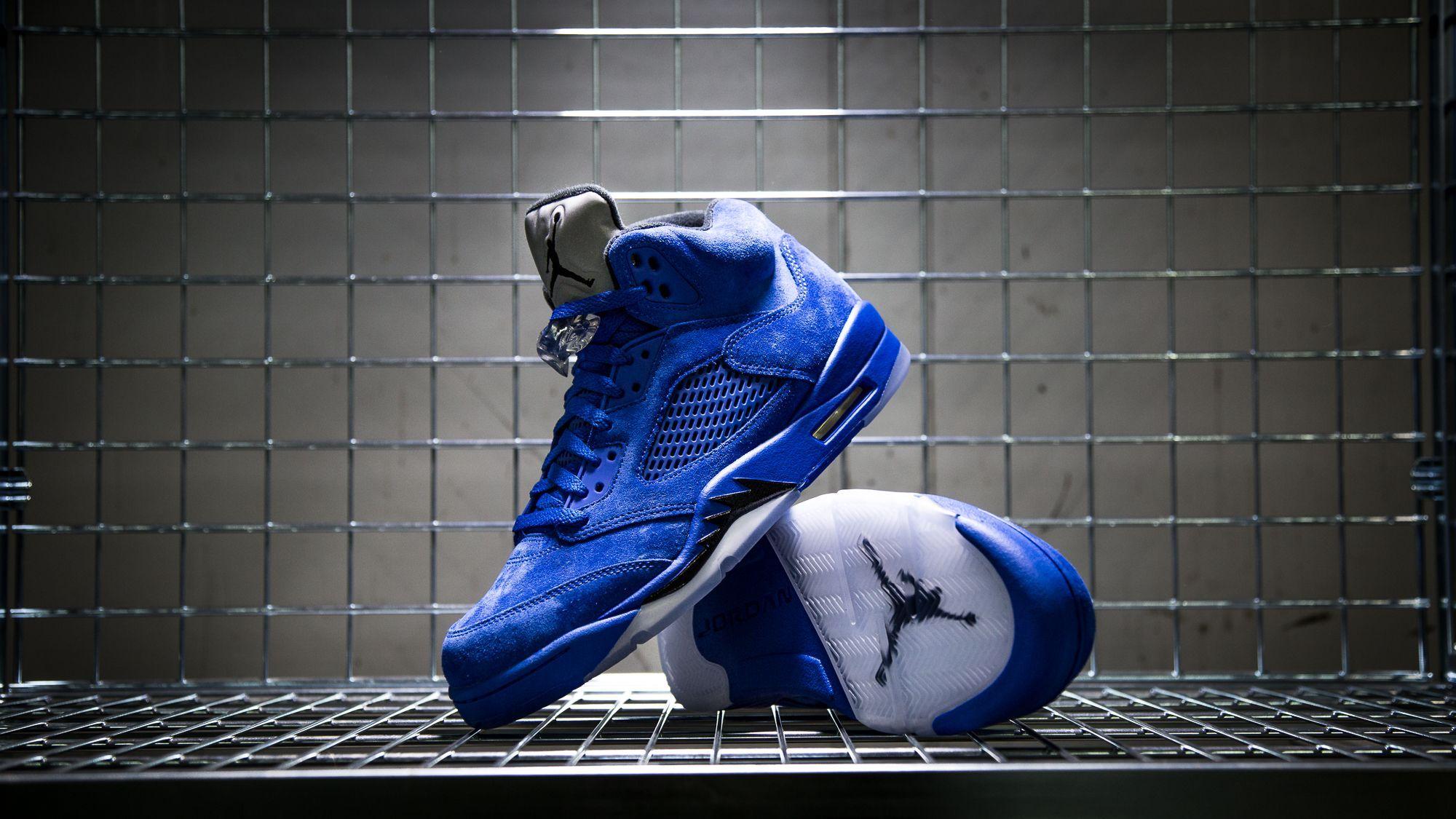 0e09b7e8a135 Nike Air Jordan 5 Retro (136027-401) Flight Suit Blue Suede USD 165
