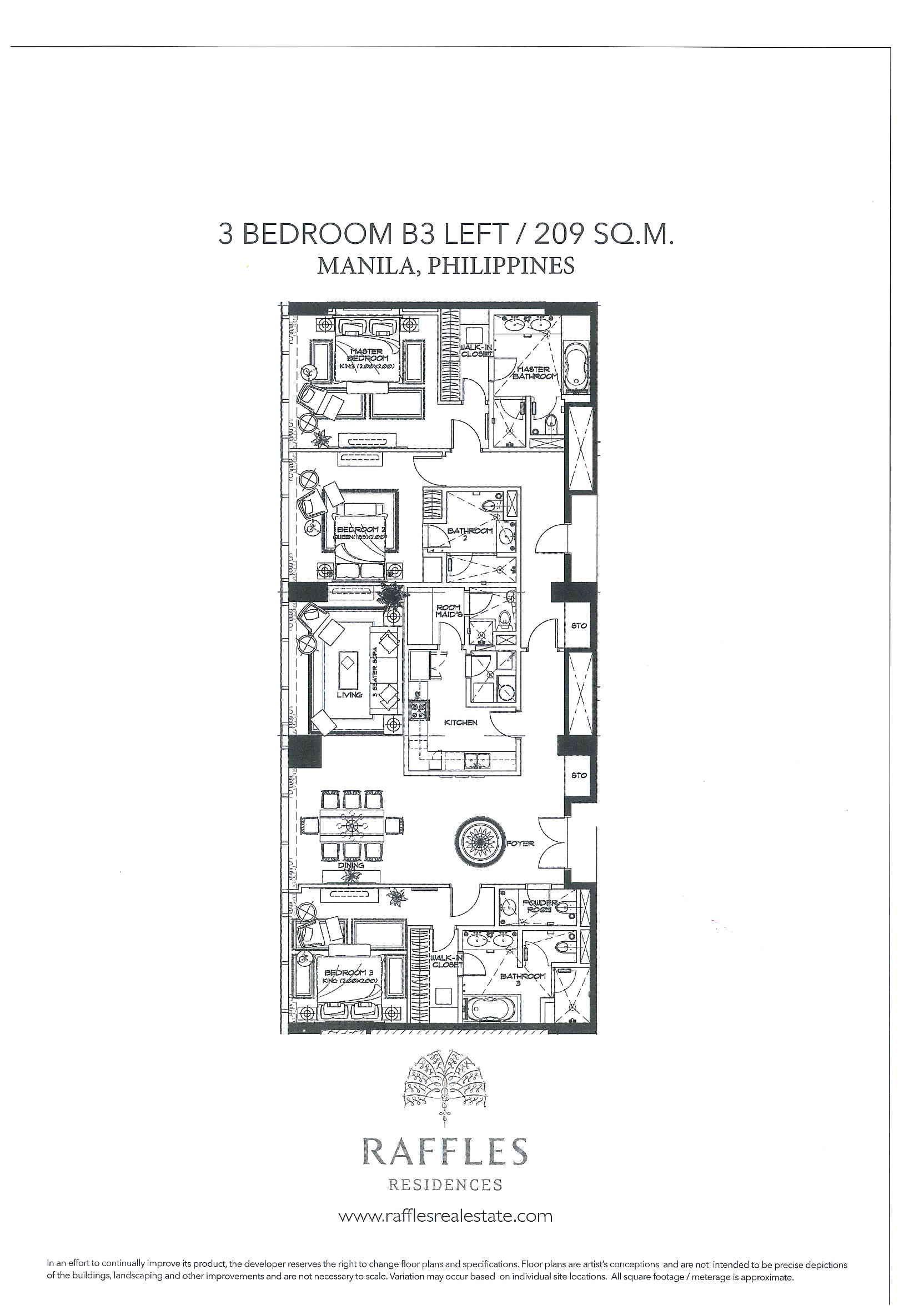 Raffles Residences Makati Apartamento