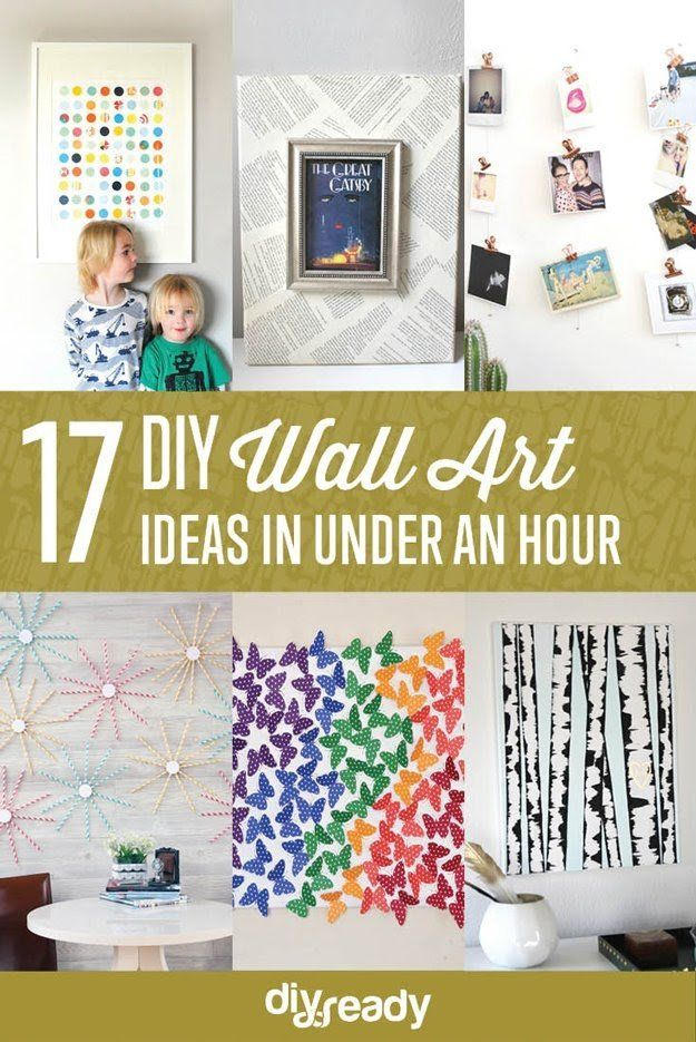 17 DIY Wall Art Ideas in Under an Hour | https://diyprojects.com/diy ...