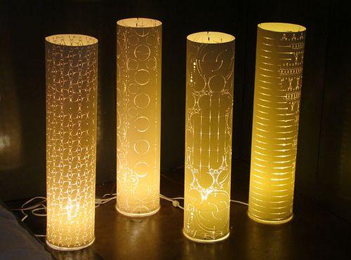 como hacer lamparas de papel