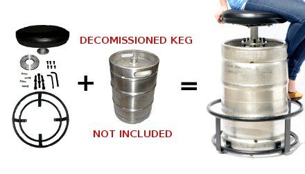 Bar Keg Stool Metal Foot Rest Assembly Kit Stability