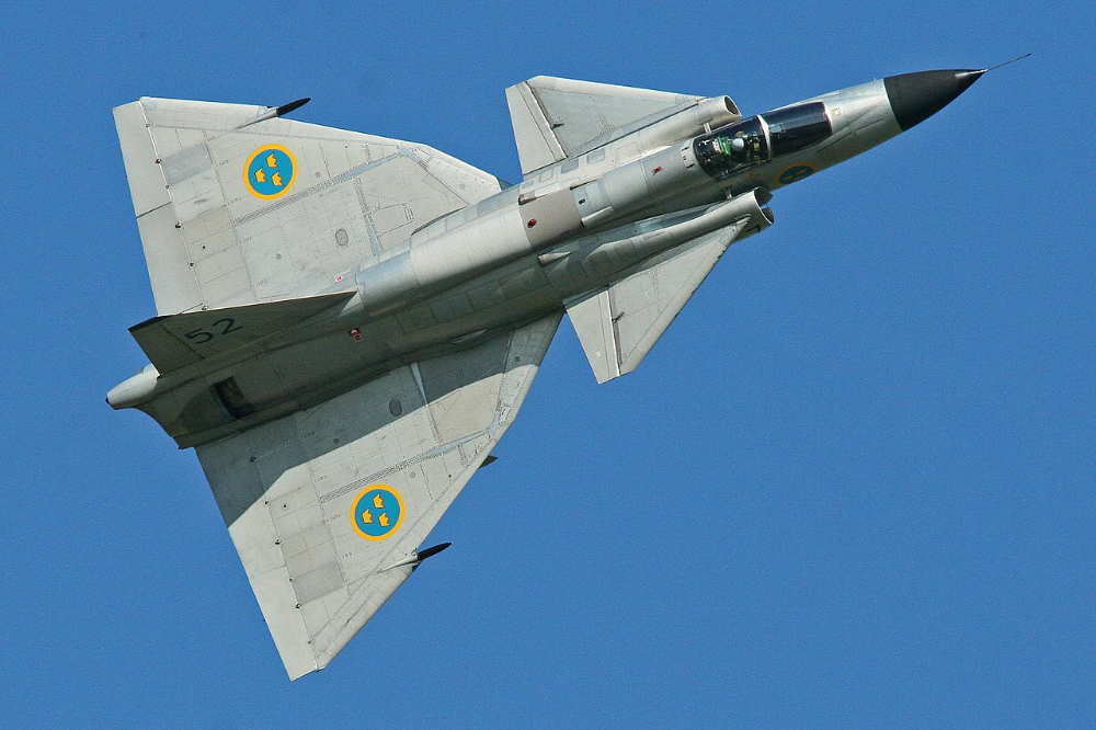 Saab AJS37 Viggen 37098 52 of the Swedish Air Force.