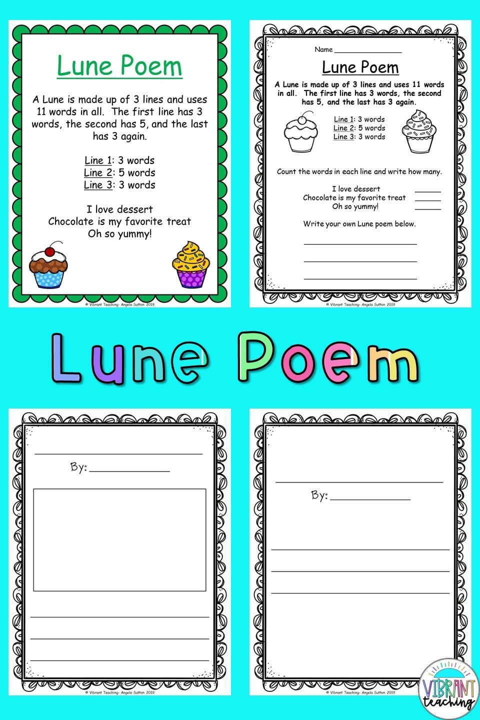 Lune Poems For Kids In 2020 Poetry For Kids Poem Activities Poetry Writing Activities