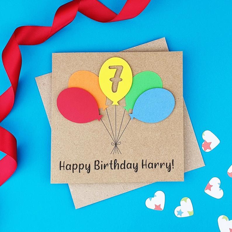 1st Birthday Card 2nd Birthday Card Handmade Birthday Card Etsy First Birthday Cards 1st Birthday Cards Birthday Cards For Son