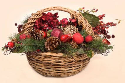 christmas basket decorations christmas gift baskets christmas treats basket ideas holiday ideas - Christmas Basket Decoration Ideas