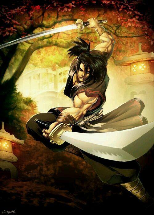 Renegade Samurai wielding dual blades ,beautifully done-via B550©