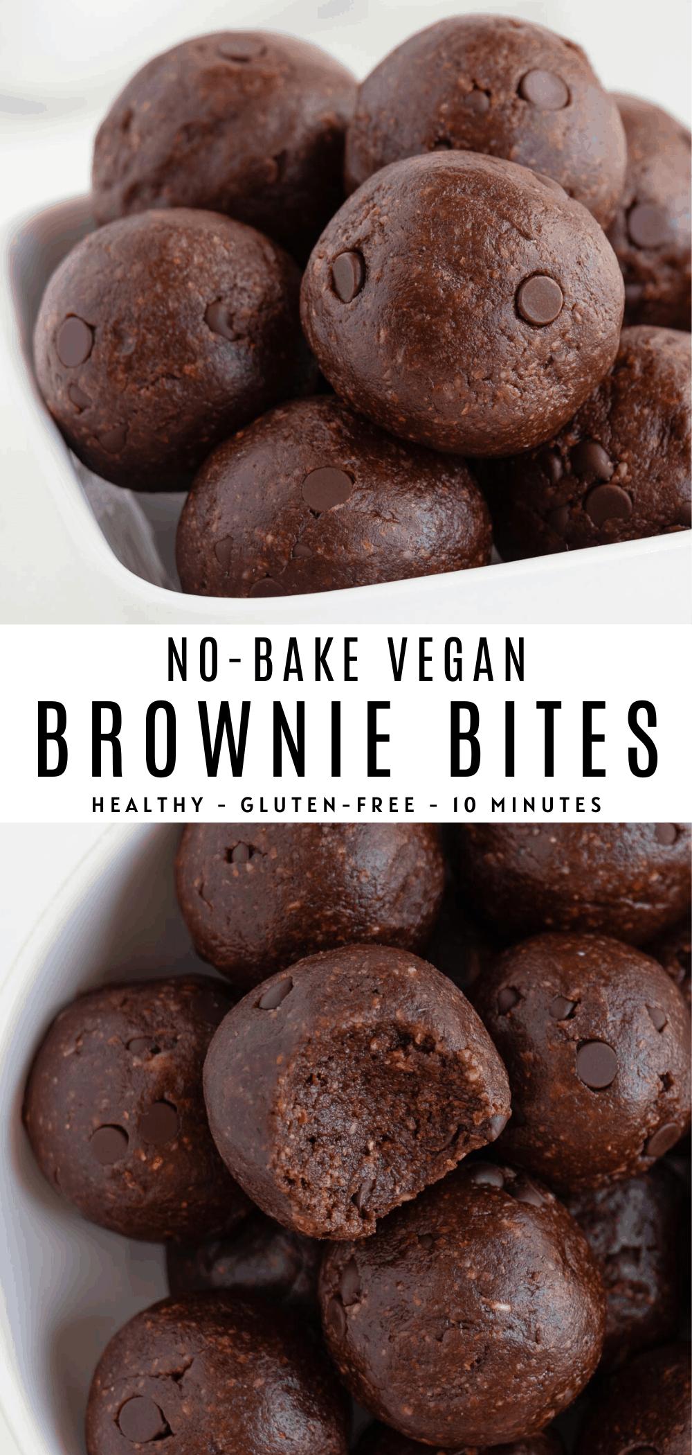 No Bake Brownie Bites Recipe In 2020 Vegan Snack Recipes Easy Baking Recipes Easy Baking