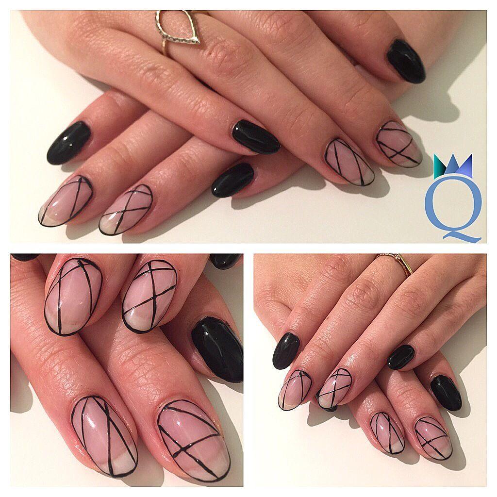 roundnails #gelnails #nails #naturalnails #natural #black ...