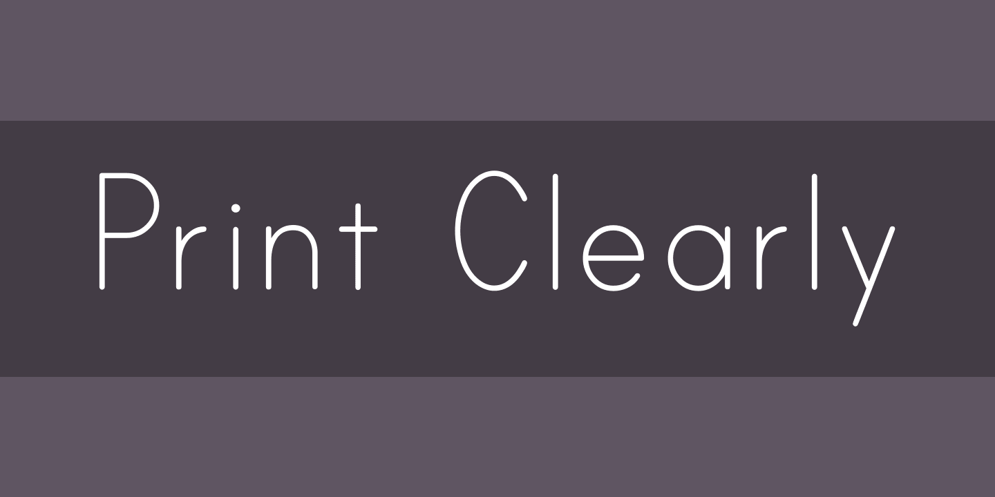 Print Clearly Font Free By Blue Vinyl Fonts Font Squirrel Kid Fonts Blue Vinyl Font Squirrel