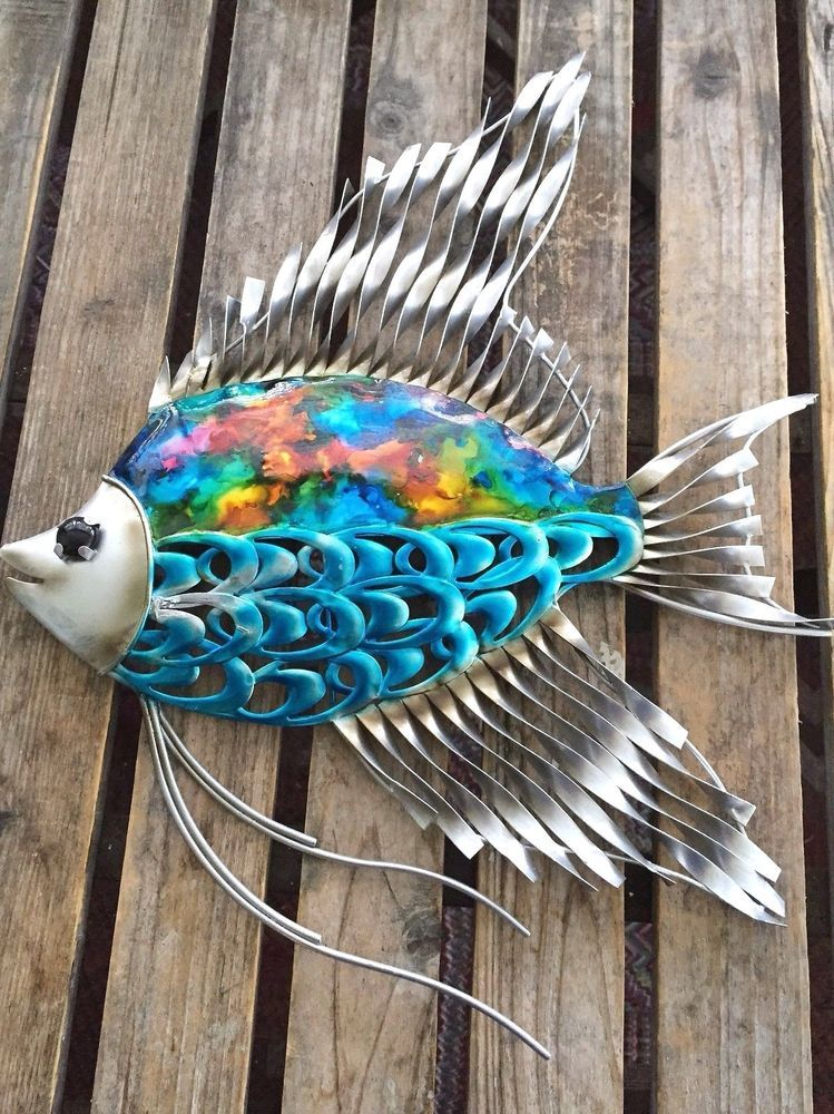 Colorful Fish - Metal Wall Art -Home Decor Outdoor Patio ...