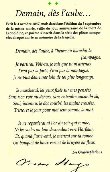 Demain Dès Laube Poèmes Damour Poèmes De Toujours Zitate