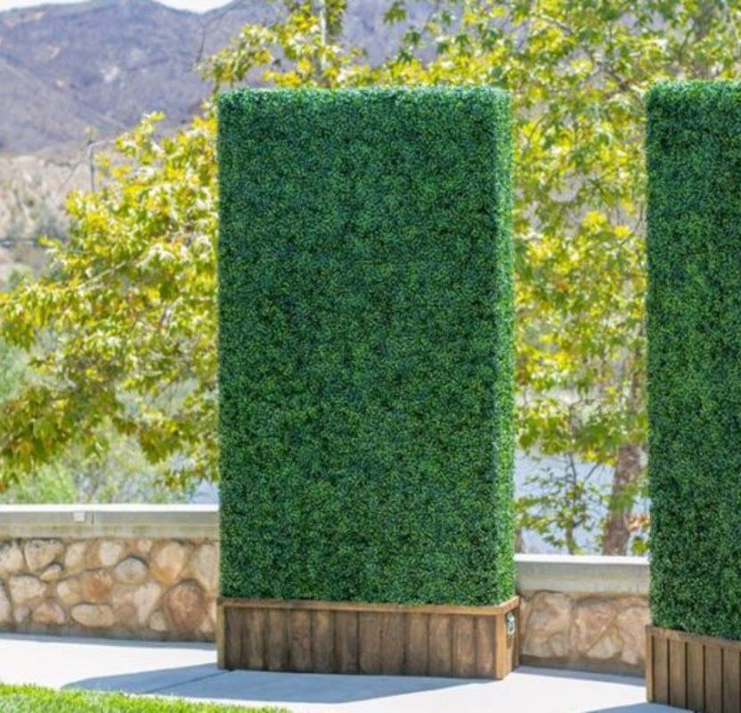 scudder artificial boxwood hedge privacy fence screen on interior using artificial boxwood panels with flowers id=50982